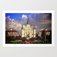 postcard Art Prints featuring Postcard by Cliff Englert