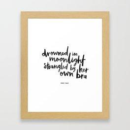 Drowned In Moonlight Framed Art Print