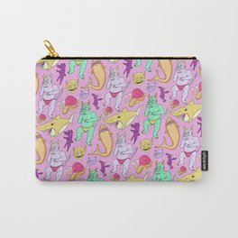Paisley Pink Monsters Carry-All Pouch