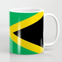 jamaica Mugs featuring Flag of Jamaica by Neville Hawkins