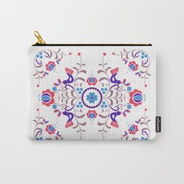 RED & BLUE  Hungarian folk art Carry-All Pouch