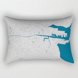 Dublin city map grey colour Rectangular Pillow