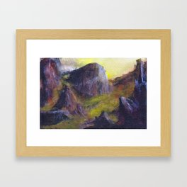 Siphon Draw to the Flatiron Framed Art Print