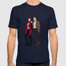 Matt Smith as Dr Who and Karen Gillan as Amy Pond Navy MEDIUM Mens Fitted Tee
