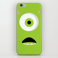 mike wrobel iPhone & iPod Skins featuring Mike by Bearded Manatee