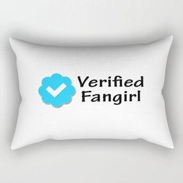 Verified Fangirl Rectangular Pillow