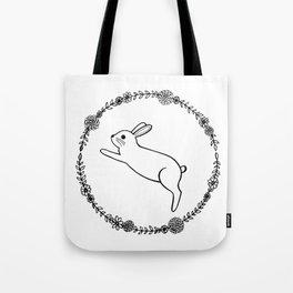 Hopping bunny Tote Bag