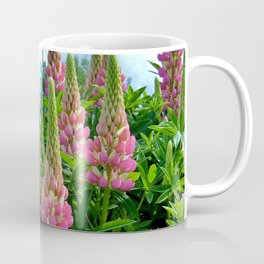 Rose Lupins in the Garden Coffee Mug