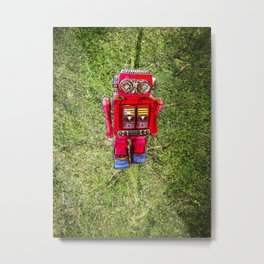 RED ROBOT Metal Print