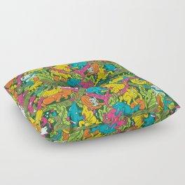 Crocodile party Floor Pillow