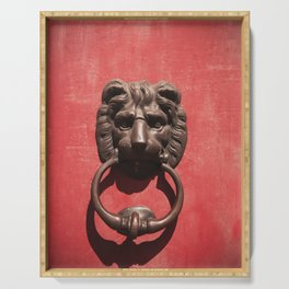 Red Door with Lion head Serving Tray