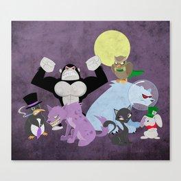 Arkham City Critters Canvas Print