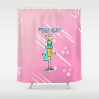 strong Shower Curtains featuring Strong by GlassEyeSpy