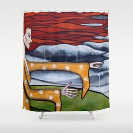 autumn witch Shower Curtain