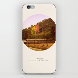 i think of you in colors that don't exist iPhone Skin