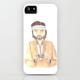 Richie Tenenbaum Watercolor iPhone Case