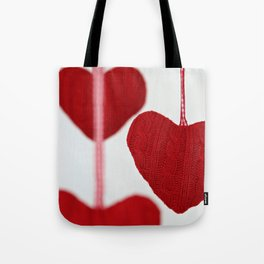 christmas decoration and valentine heart shape Tote Bag