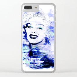 Marilyn Blue pop art derivative work Clear iPhone Case