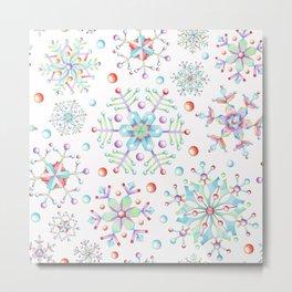 Snowflake Kaleidoscope Metal Print