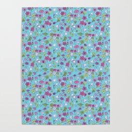Flowers, Clovers & Diamonds Poster