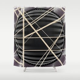 Crossroads -3D circle Shower Curtain