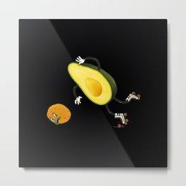 Avocado rollerskate Metal Print