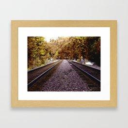 Seattle Train Tracks Framed Art Print