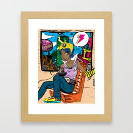 Gamer City Framed Art Print