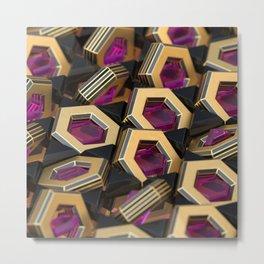 Pink Gems Metal Print
