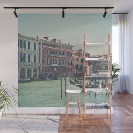 looking along the Grand Canal in Venice Wall Mural