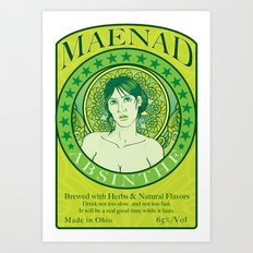 Maenad Absinthe Art Print