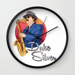 Duke Silver - Ron Swanson Artwork Wall Clock