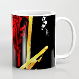 Red Dragon Abstract Art Coffee Mug