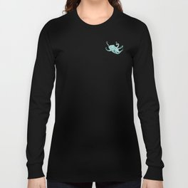 Blue Octacluar Octopus Long Sleeve T-shirt