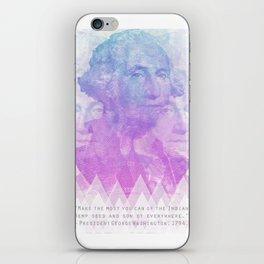 George Washington says grow hemp weed iPhone Skin