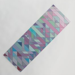 Triangle Pattern no.3 Violet Yoga Mat