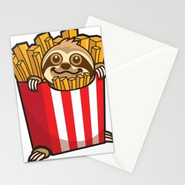 Sloth Fries Stationery Cards