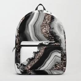Agate Rose Gold Glitter Glam #4 #gem #decor #art #society6 Rucksack