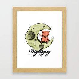 Dig Big Pig Framed Art Print