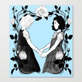 Schneeweißchen und Rosenrot Canvas Print