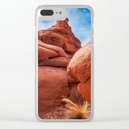 Massive Boulders at Kodachrome Park Clear iPhone Case