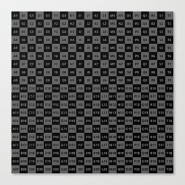 UV Mapped / Unfolded UV texture map Canvas Print