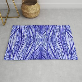 Abstract Long Grass Blue and Purple 717 Rug