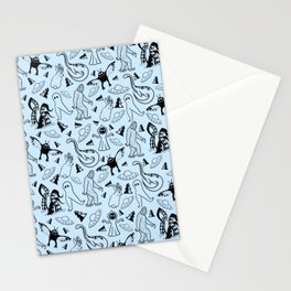 Cryptid Classics (Blue) Stationery Cards