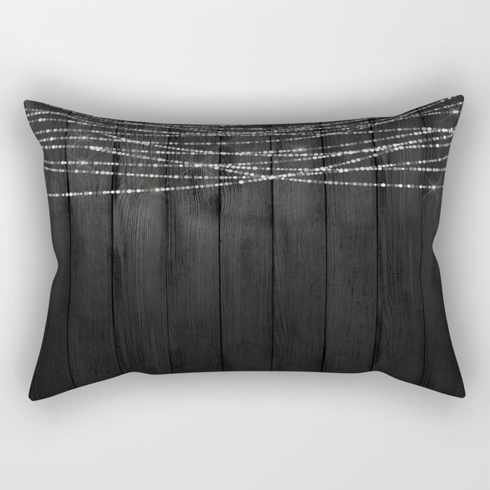 Fairy Lights on Wood 01 Rectangular Pillow