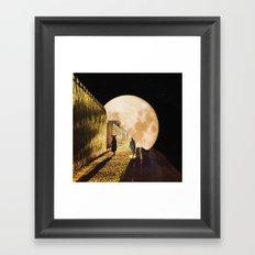Walking at the moonlight Framed Art Print
