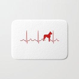 Boxer Dog Heartbeat Bath Mat