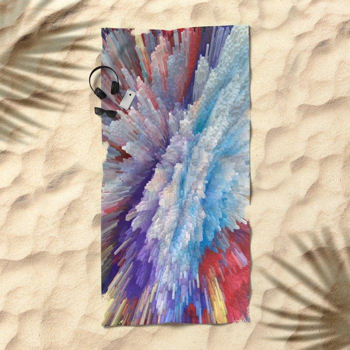 Abstract 115 Beach Towel