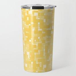 Primrose Yellow Pixels Travel Mug