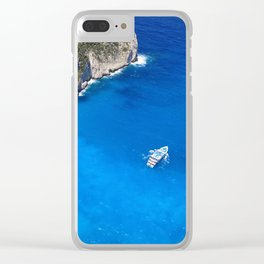 crystal greece Clear iPhone Case